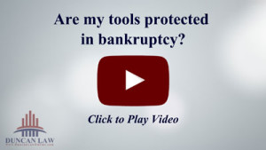 Are My Tools Protected in A Bankruptcy?