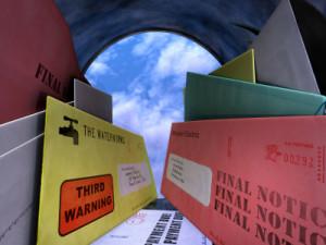 Bills in Mailbox