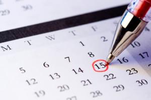 Circling a Date on Calendar
