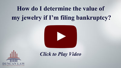 How Do I Determine the Value of My Jewelry if I'm Filing Bankruptcy?