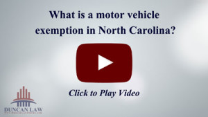 What is a motor vehicle exemption