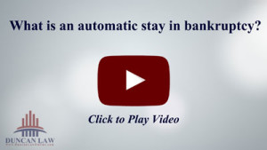 What is an automatic stay?